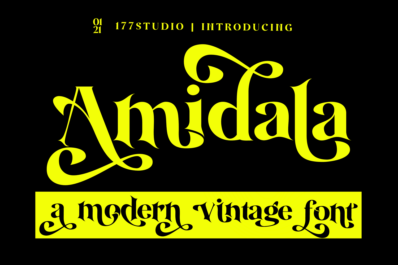 Amidala Classy Serif Font -1