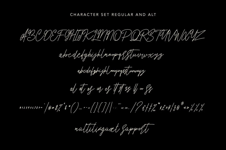Anthroops Signature Handwritten Typeface -3