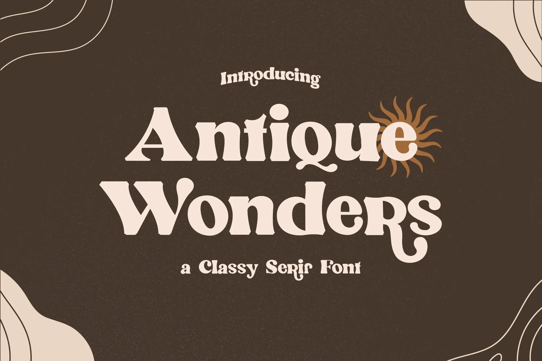 Antique Wonders Serif Font-1
