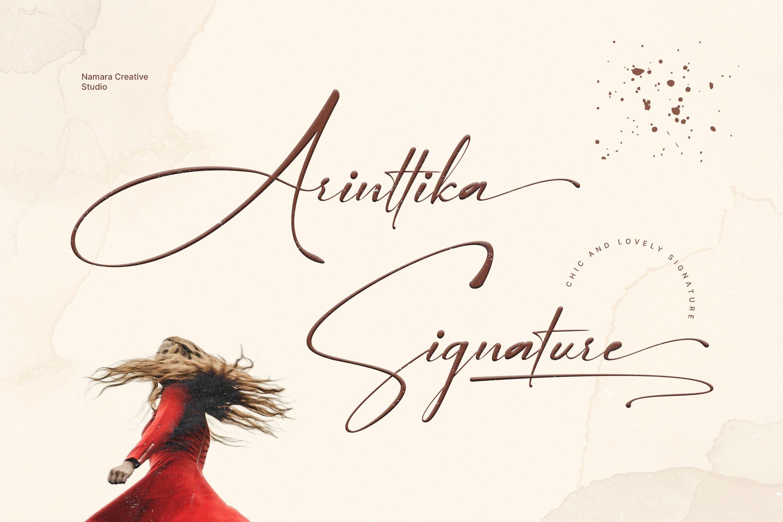 Arinttika Signature Script Handwritten Font -1