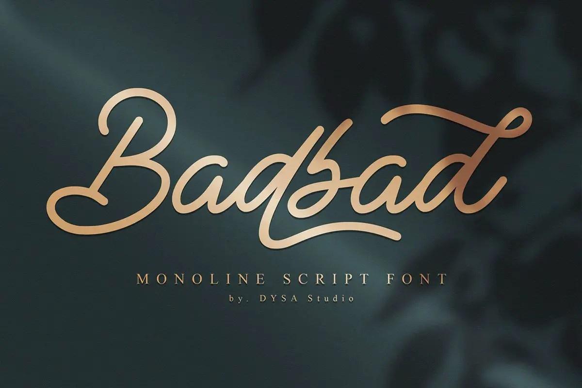 Badbad Monoline Script Font-1
