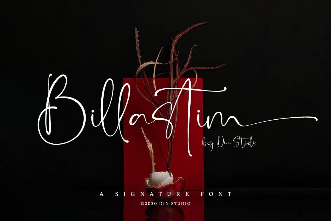Billastim Signature Calligraphy Font -1