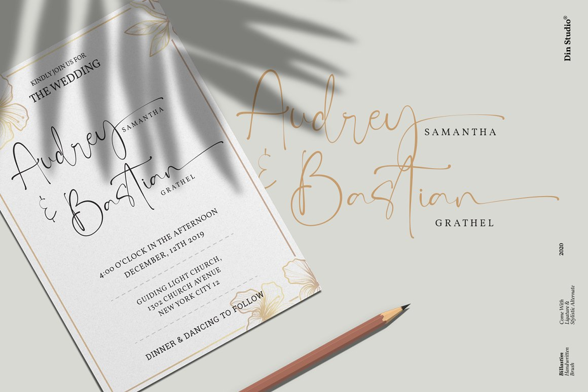 Billastim Signature Calligraphy Font -2
