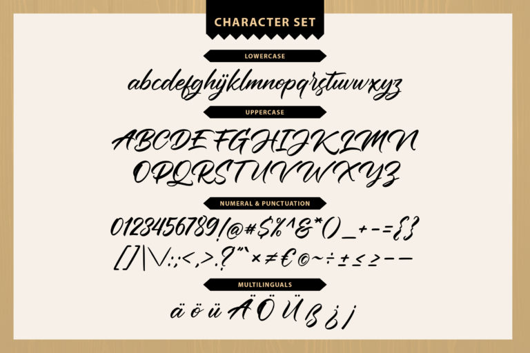 Black House Script Font -3