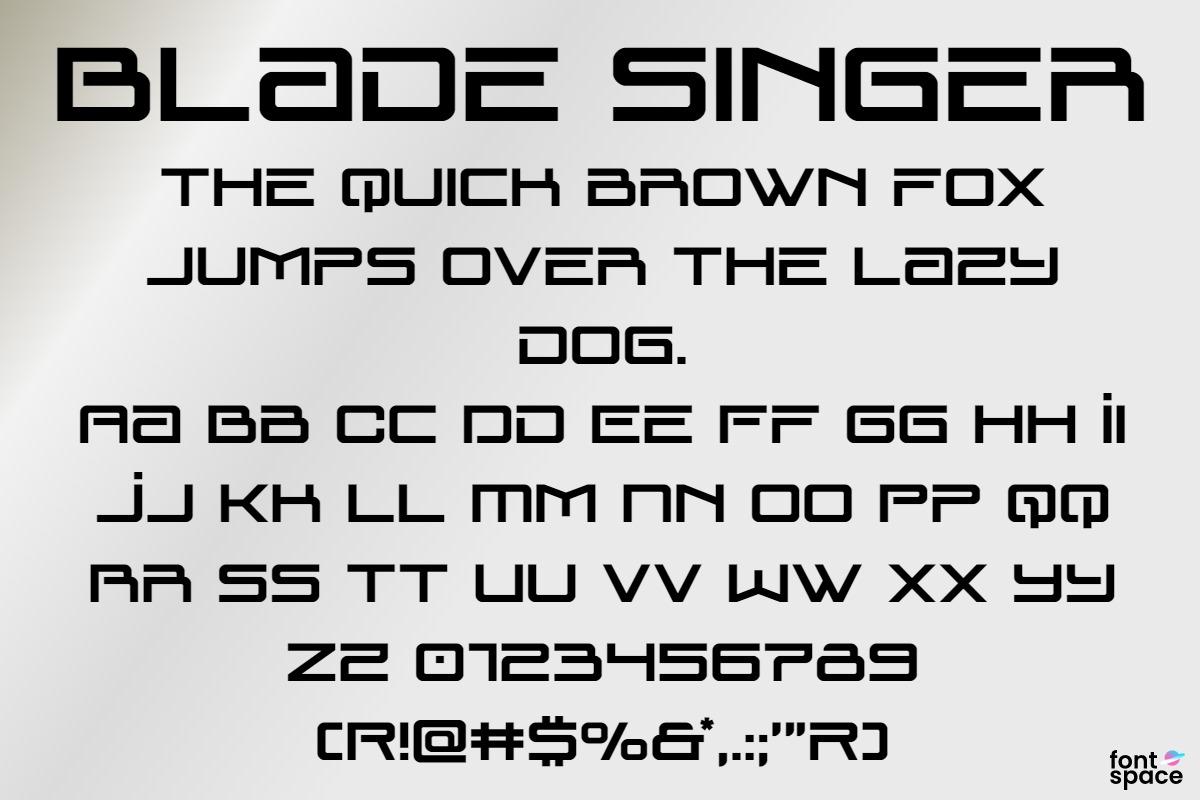 Blade Singer Display Font -1