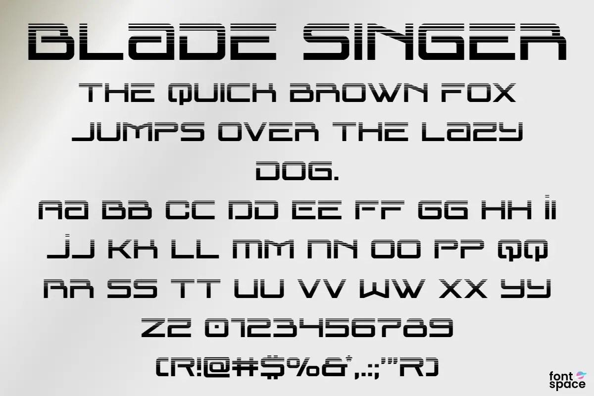 Blade Singer Display Font -4