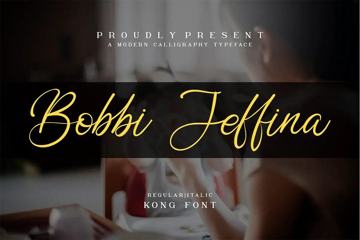 Bobbi Jeffina Calligraphy Font -1