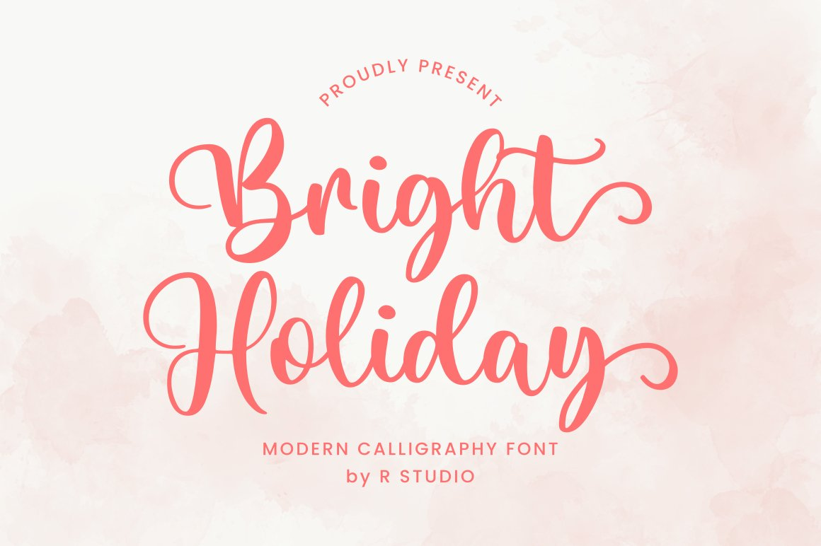Bright Holiday Script Calligraphy Font -1