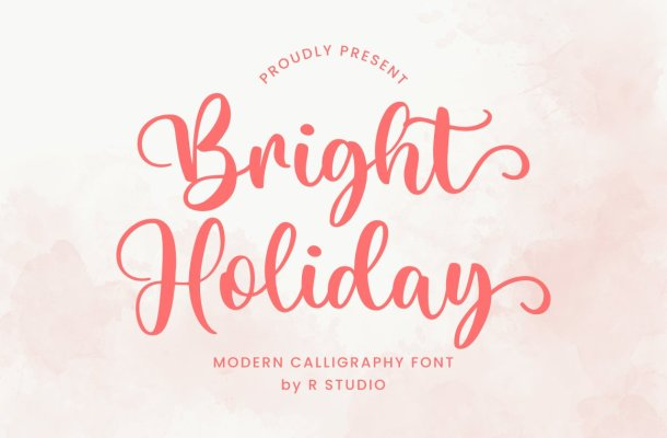 Bright Holiday Font