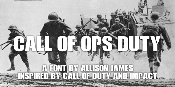 Call of Ops Duty Display Font -
