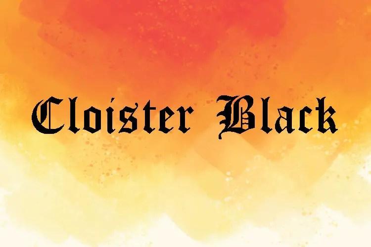Cloister Black Medieval Font -1