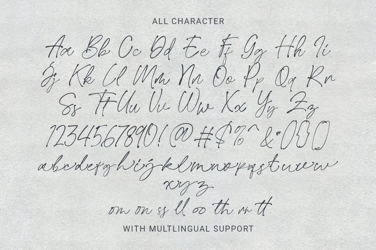 Easthallow Natural Handwritten Font -3