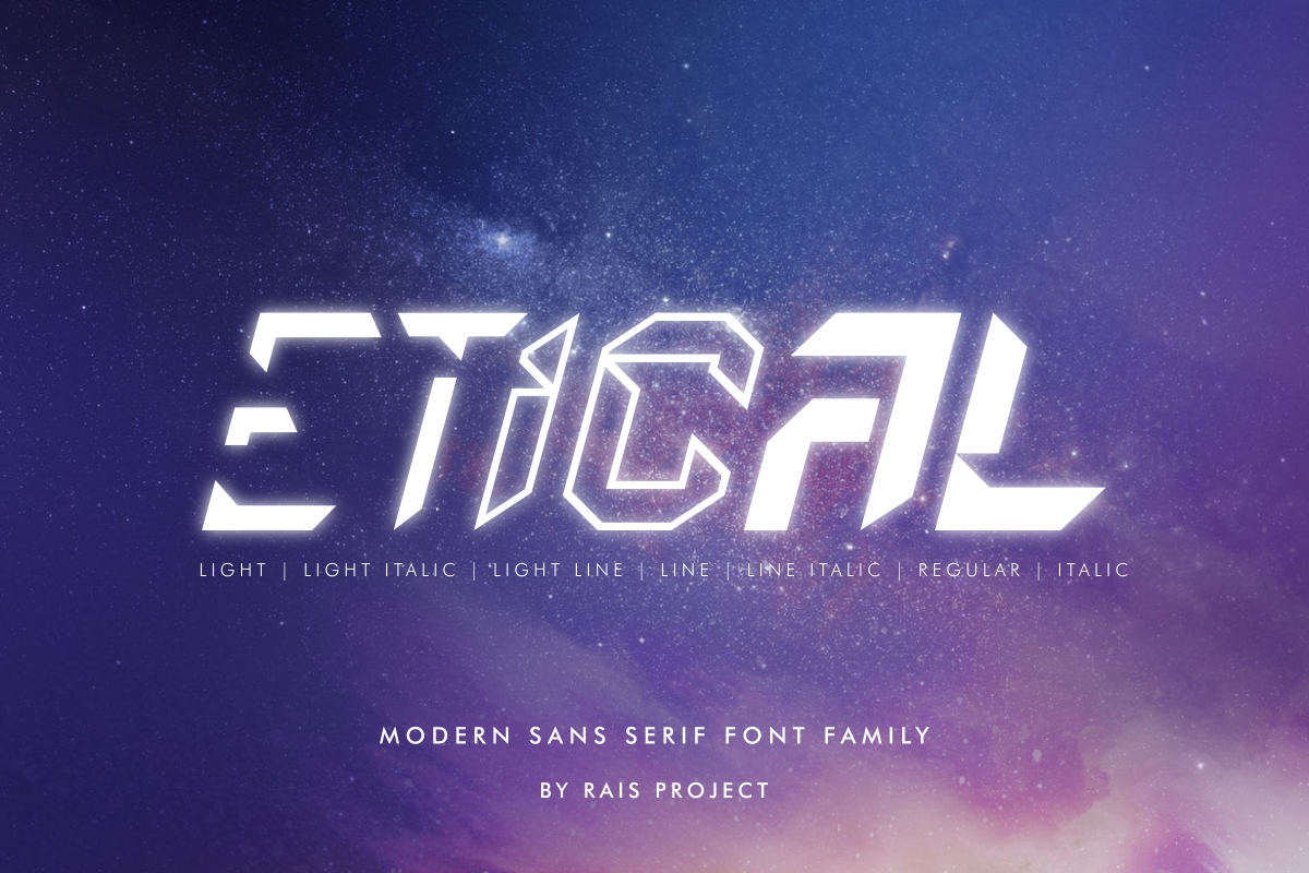 Etical Display Font -1