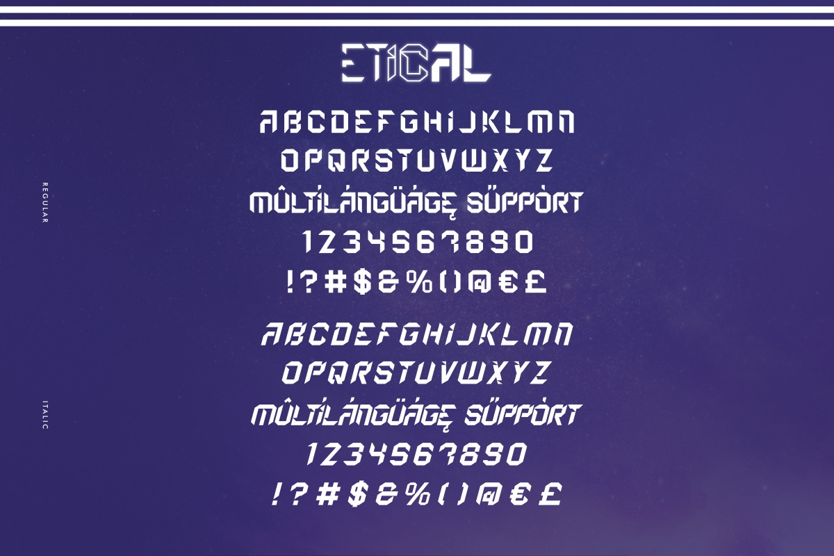 Etical Display Font -2