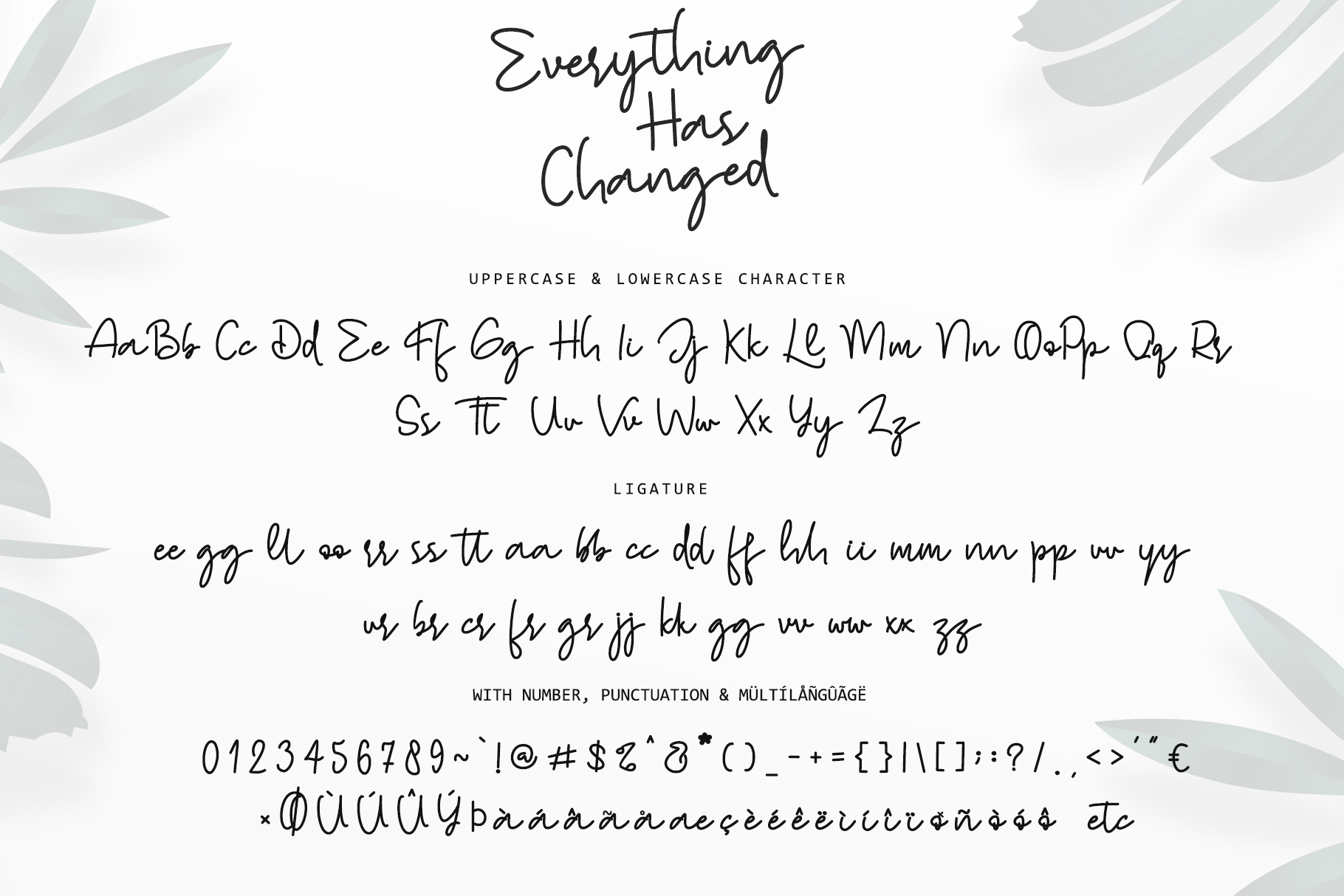 Everything Has Changed Font-3