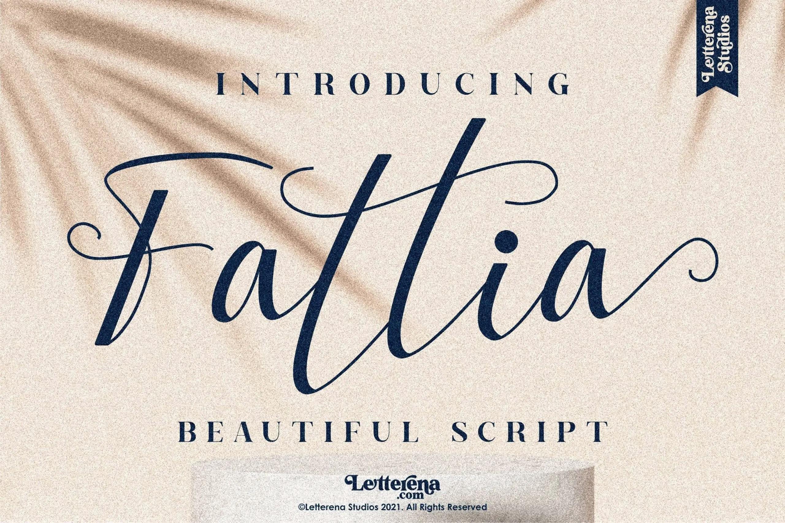 Fattia Beautiful Script Font -1
