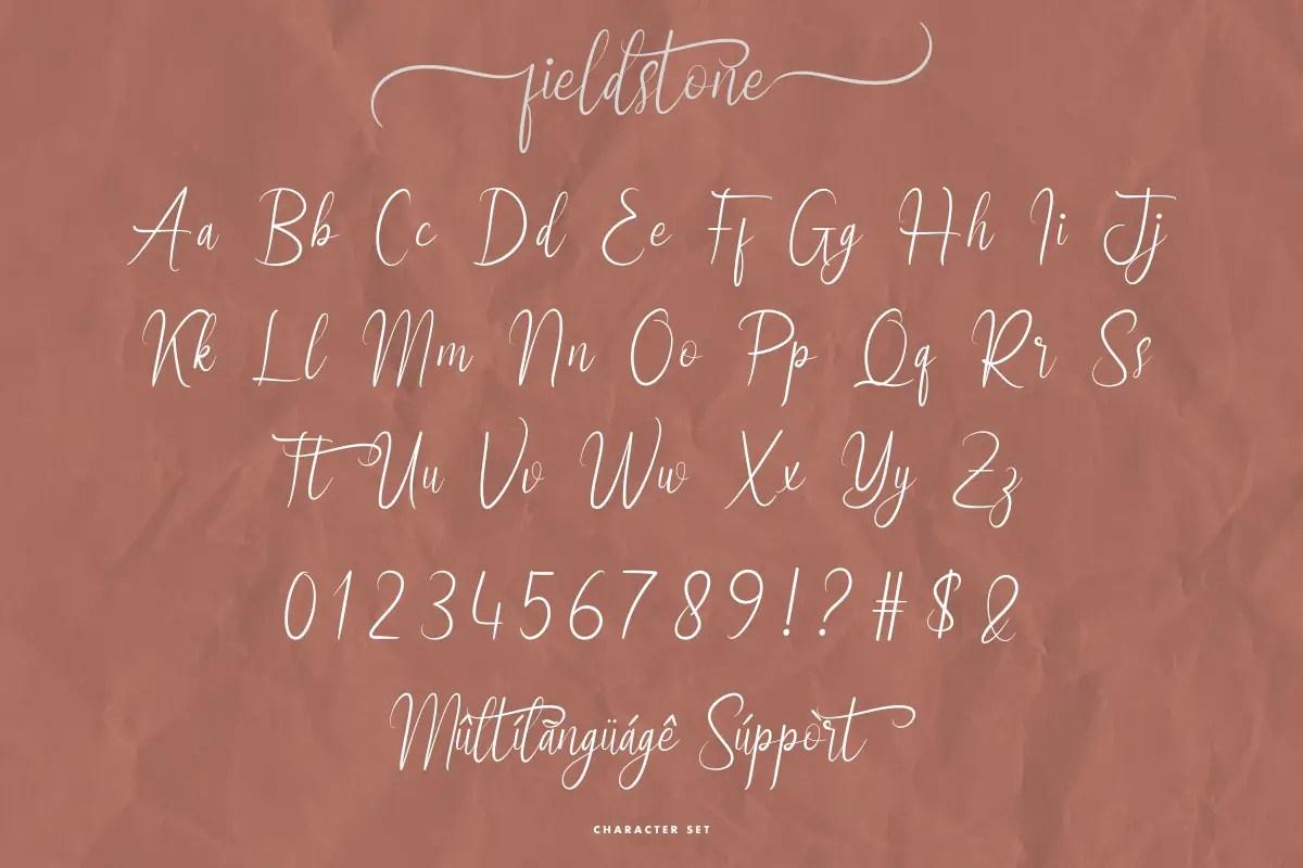 Fieldstone Brush Calligraphy Font -3