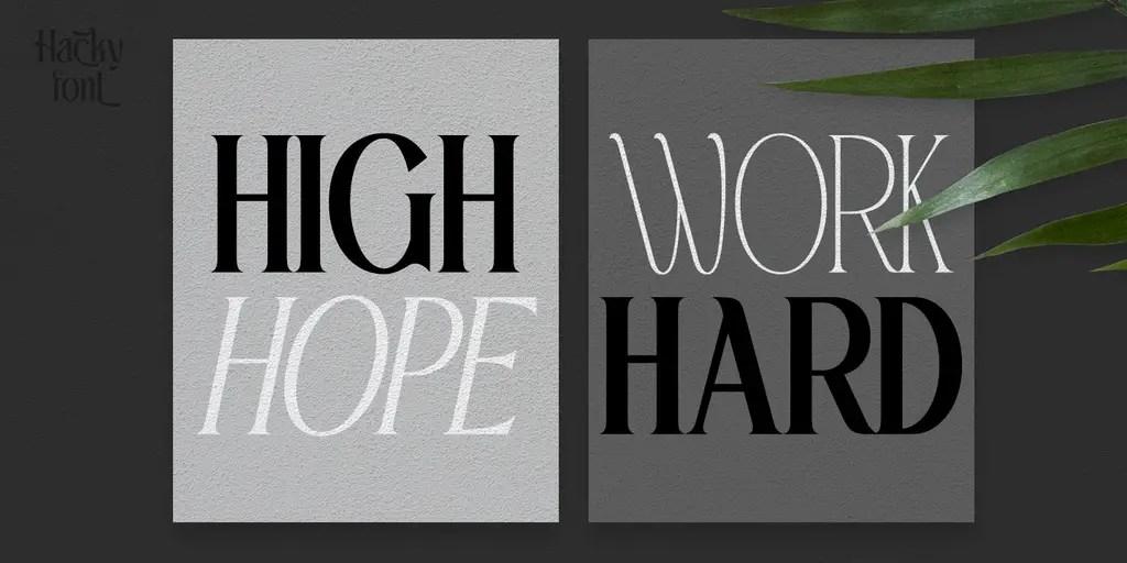 Hacky Luxury Serif Font Family -2