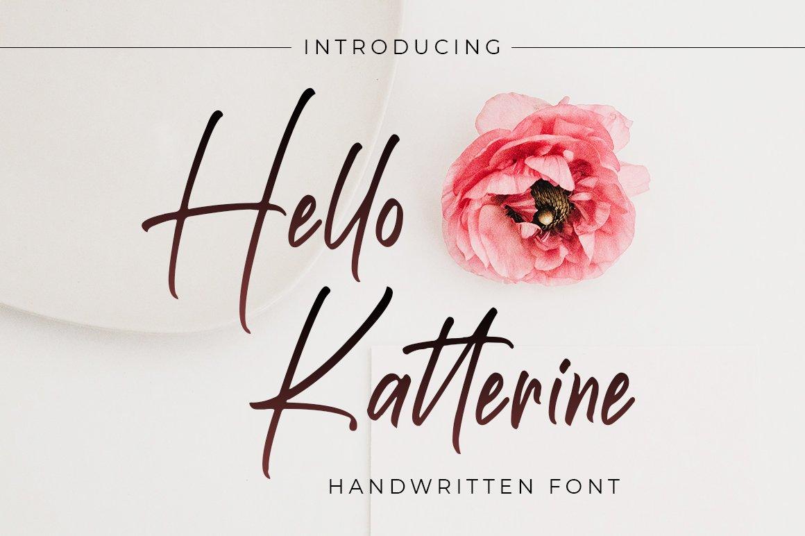 Hello Katterine Handwritten Script Brush Font -1