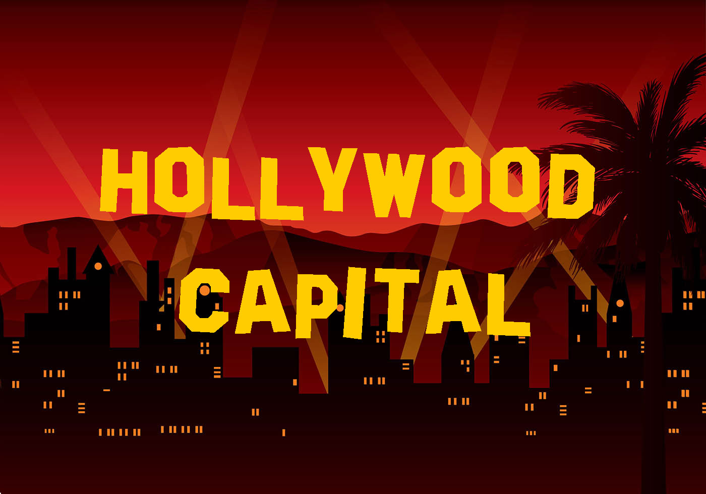 Hollywood Capital Distorted Font -1