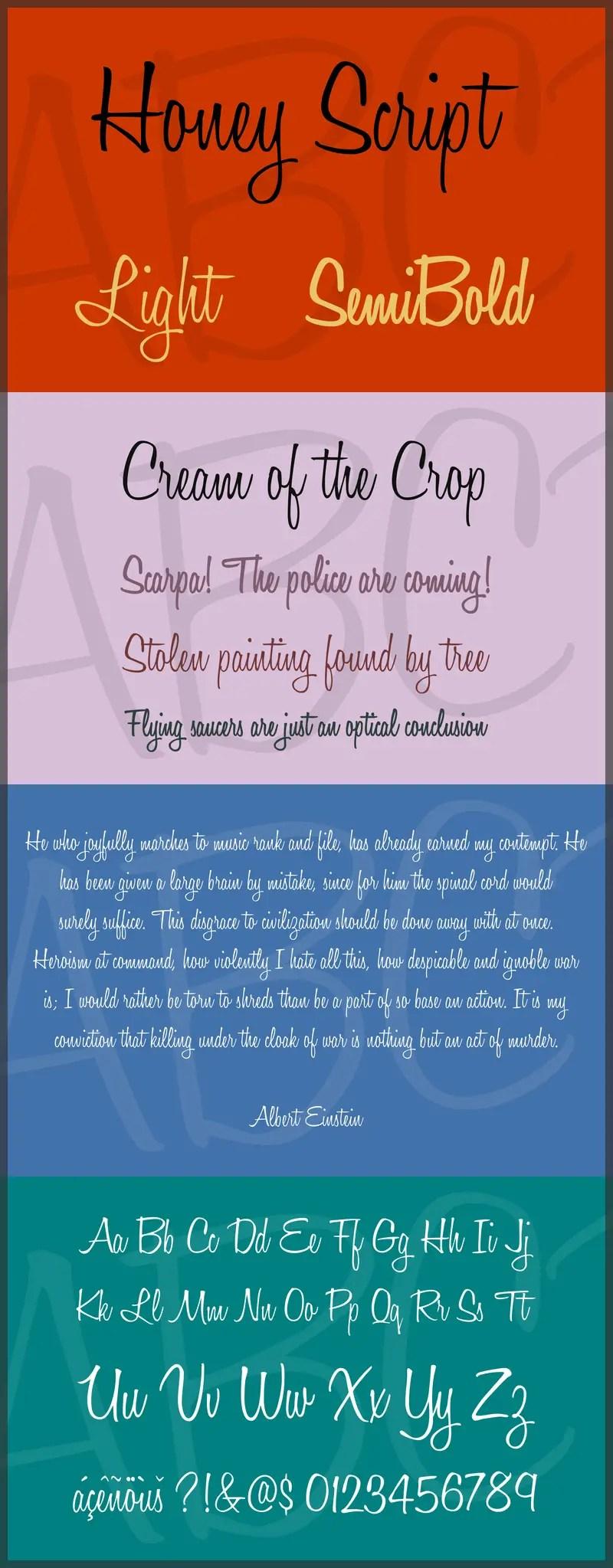 Honey Script Handwritten Font -2