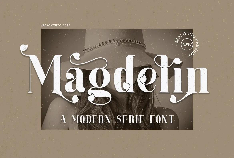 Magdelin Serif Font -1