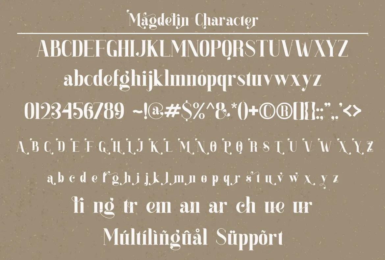 Magdelin Serif Font -3