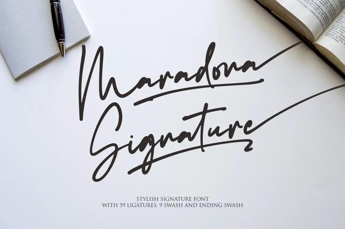 Maradona Signature Handwritten Font-1