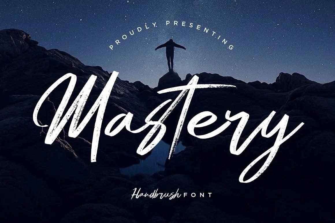 Mastery Hand Brush Script Font -1