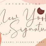 New York Signature Font