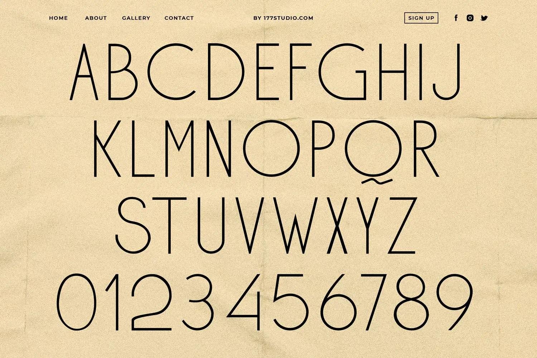 Ohio - Futuristic Sans Serif Font-2