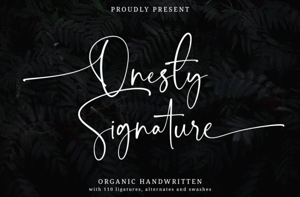 Onesty Signature Font