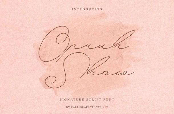 Oprah Show Font