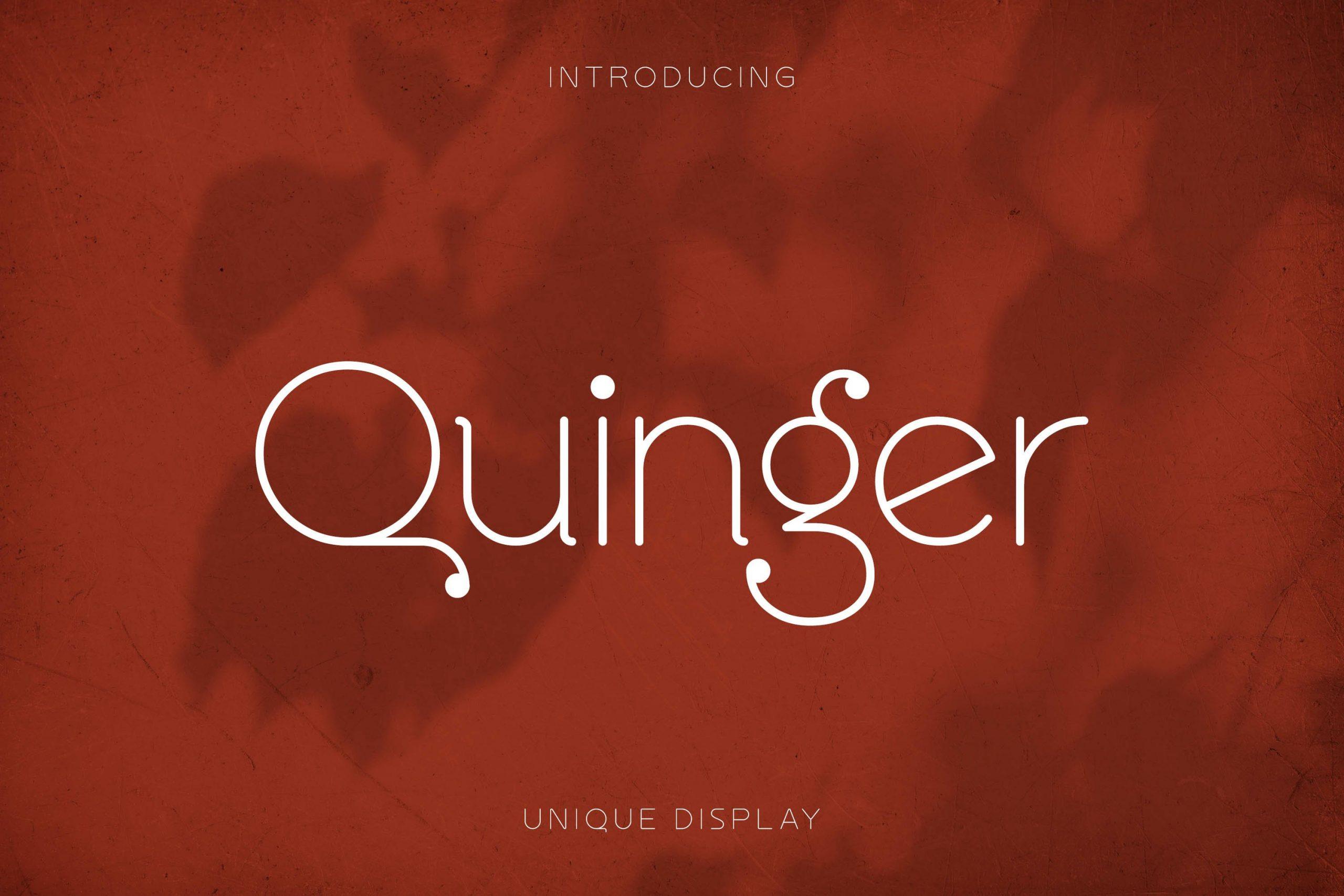 Quinger Unique Sans Display Fint -1