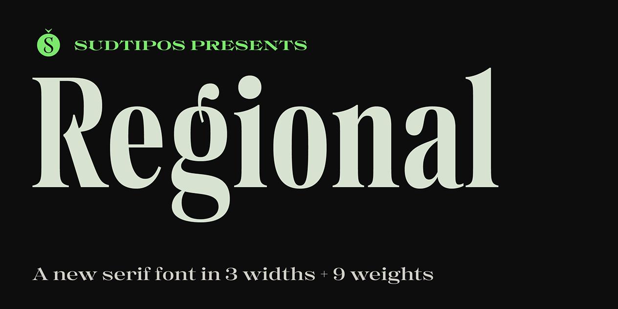 RegionalSerif Font -1