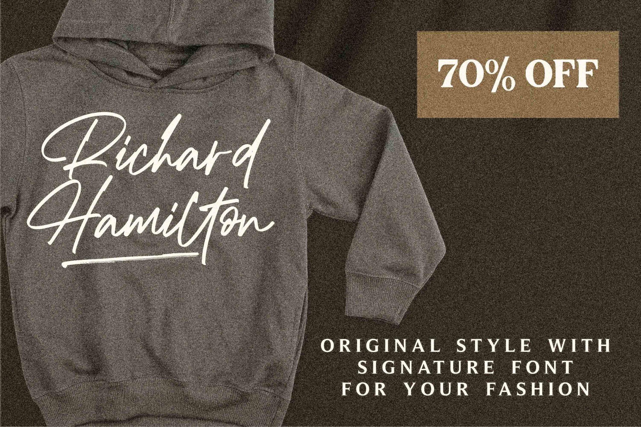 Richard Hamilton Brush Signature Font -2