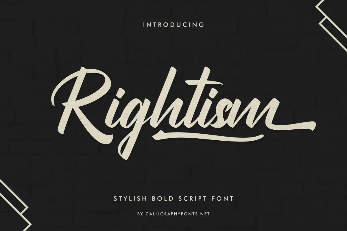 Rightism Stylish Bold Script Font -1