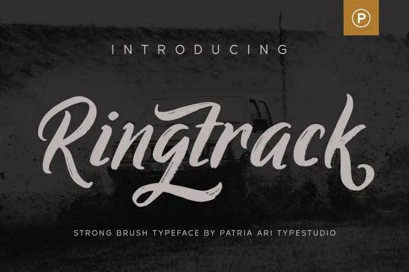 Ringtrack Strong Brush Script Font-1