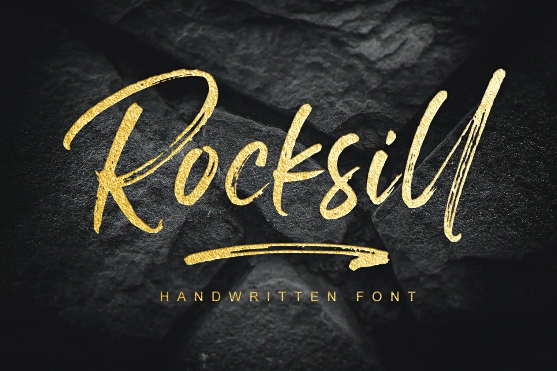 Rocksill Brush Script Font-1