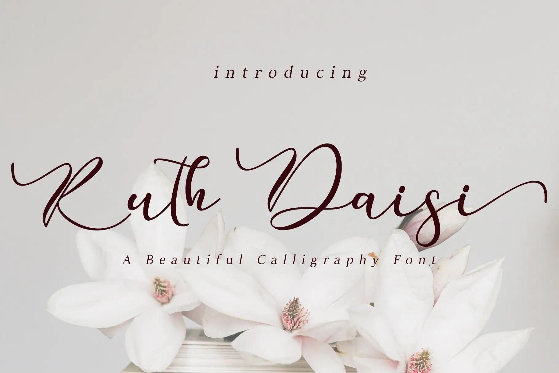 Ruth Daisi Calligraphy Font -1