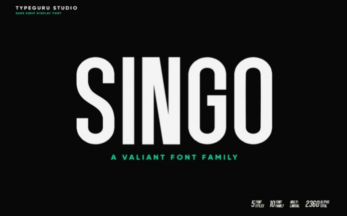 Singo Bold Sans Serif Font -1