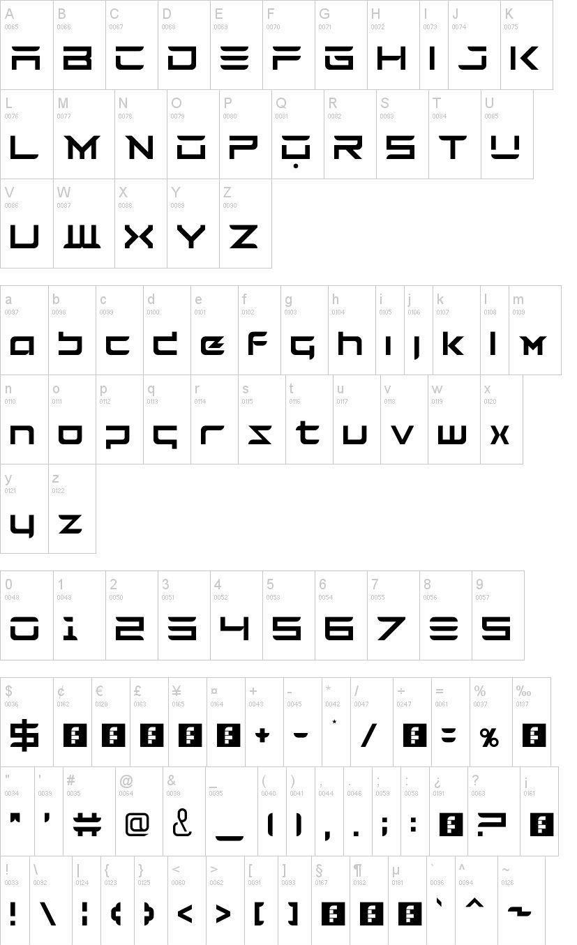 Tesla Techno Font -2