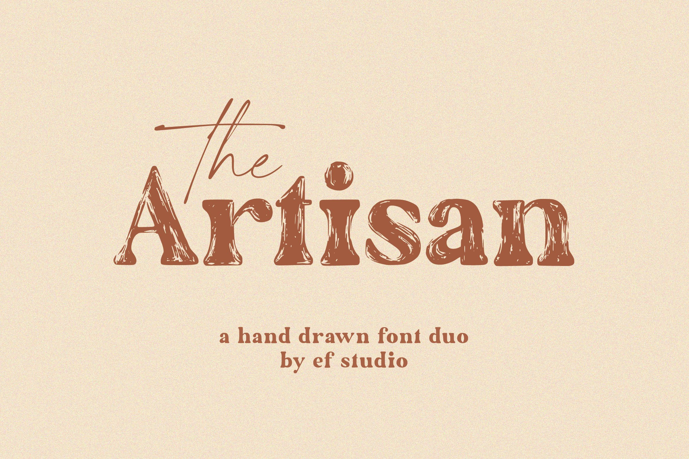 The Artisan Hand Drawn Font Duo-1