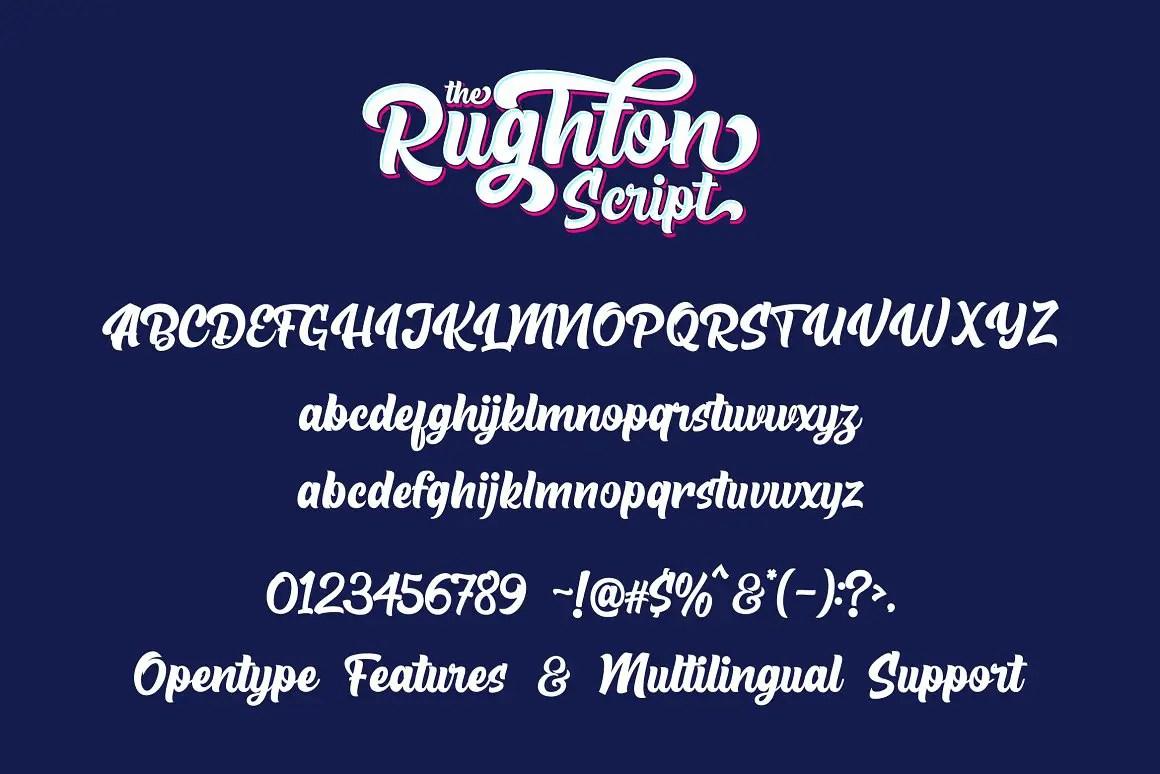 The Rughton Bold Script Font -3