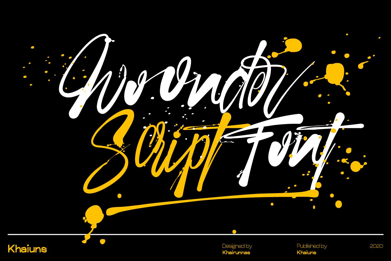 Woonder Brush Script Font -1