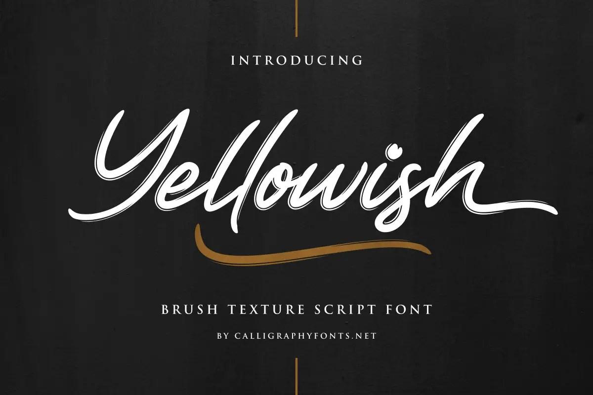 Yellowish Hand Brush Script Font -1