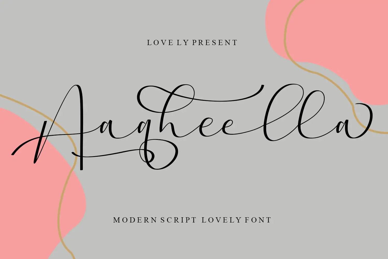 Aaqheella Modern Calligraphy Font -1