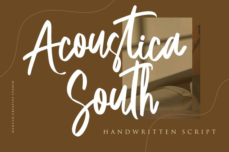 Acoustica South Script Handwritten Font -1