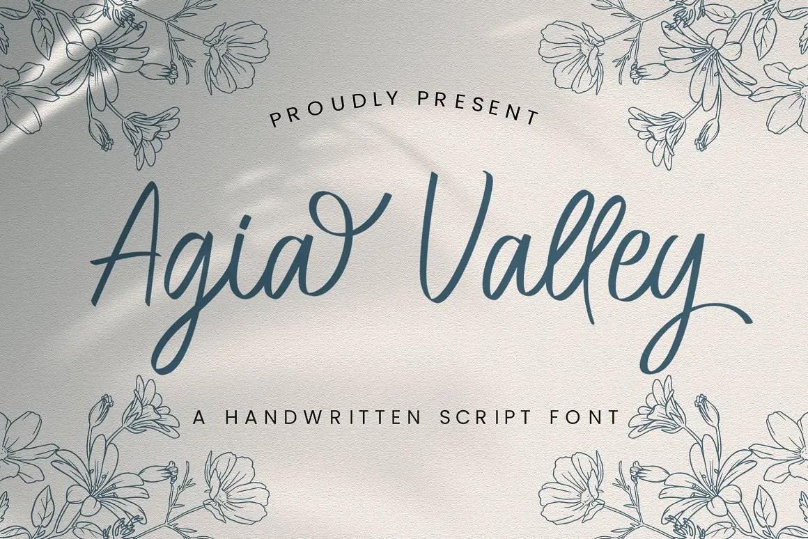 Agia Valley Handwritten Script Font -1
