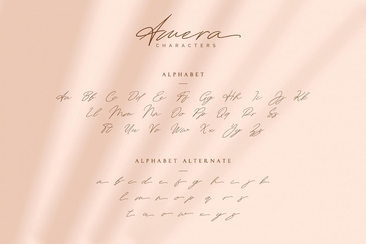 Amera Signature Handwritten Font-2
